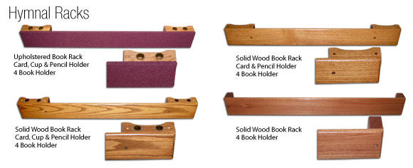 Church Pew Accessories Hymnal Racks Kneelers Modesty